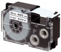 Schriftbandkassette für Label Printer, Kunststoff, 6 mm x 8 m, schwarz, weiß