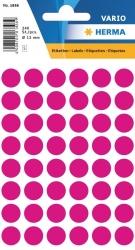 1856 Vielzwecketiketten - pink, Ø 13 mm, matt, 240 Stück