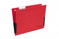 Hängetaschen Serie E - rot, Leinenfrösche, inkl. Vollsichtreiter und Blankoschildchen