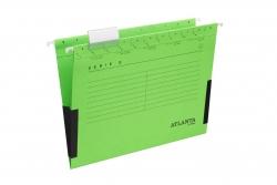 Hängetaschen Serie E - grün, Leinenfrösche, inkl. Vollsichtreiter und Blankoschildchen