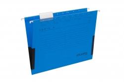 Hängetaschen Serie E - blau, Leinenfrösche, inkl. Vollsichtreiter und Blankoschildchen