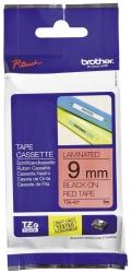 TZe-421 Schriftbandkassette - laminiert, 9 mm x 8 m, schwarz auf rot