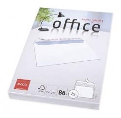 Briefumschlag Office - B6, hochweiß, haftklebend, ohne Fenster, 100 g/qm, 25 Stück