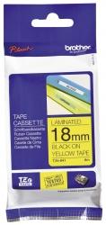 TZe-641Schriftbandkassette - laminiert, 18 mm x 8 m, schwarz auf gelb