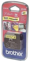 M-Schriftbandkassetten, unlaminiert Größe: 9 mm x 8 m (B x L) schwarz auf gelb
