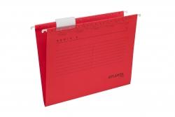 Hängemappen Serie E - rot, inkl. Vollsichtreiter und Blankoschildchen