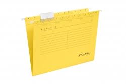 Hängemappen Serie E - gelb, inkl. Vollsichtreiter und Blankoschildchen