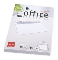 Briefumschlag Office - C6, hochweiß, haftklebung, Idr, 80 g/qm, 25 Stück
