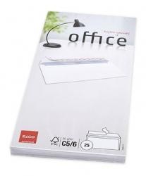 Briefumschlag Office - C5/6DL, hochweiß, haftkelbend, m. ID, ohne Fenster, 80 g/qm, 25 Stück.