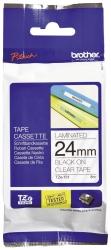 TZe-151 Schriftbandkassette - laminiert, 24 mm x 8 m, schwarz auf farblos