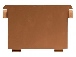 Stützplatte für Holz-Karteikästen und Tröge, DIN A6 quer, Metall, braun