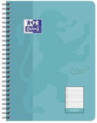 Collegeblock Touch - B5, 80 Blatt, 90 g/qm, liniert, aqua