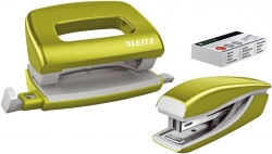 5561 Set Mini Locher Heftgerät NeXXt WOW - grün metallic