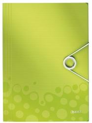 4599 Eckspannermappe WOW - A4, PP, grün metallic