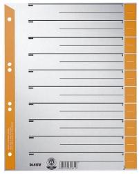 1652 Trennblätter, farbiger Lochrand - A4 Überbreite, orange, 100 Stück