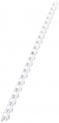 35032 Plastikbinderücken - A4, Kunststoff, 10 mm, 65 Blatt, 100 Stück, weiß