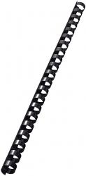 35043 Plastikbinderücken - A4, Kunststoff, 12 mm, 95 Blatt, 100 Stück, schwarz