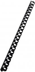 37580 Plastikbinderücken - A4, Kunststoff, 14 mm, 125 Blatt, 100 Stück, schwarz