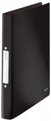 4566 Ringbuch Solid - A4, PP, 2 Ringe, 25 mm, schwarz