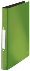 4566 Ringbuch Solid - A4, PP, 2 Ringe, 25 mm, hellgrün