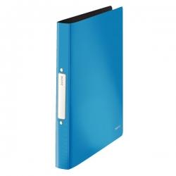 4566 Ringbuch Solid - A4, PP, 2 Ringe, 25 mm, hellblau