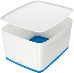 5216 Aufbewahrungsbox MyBox Groß - A4, mit Deckel, ABS, weiß/blau