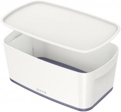 Aufbewahrungsbox MyBox Klein - A5, mit Deckel, ABS, weiß/grau