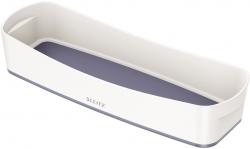 Aufbewahrungsschale MyBox - länglich, ABS, weiß/grau