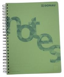 Collegeblock PP Cover - A4, kariert, grün