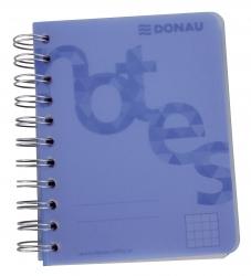 Collegeblock PP Cover - A6, kariert, blau