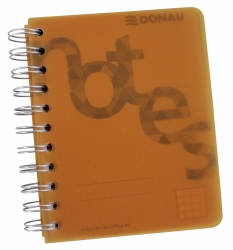 Collegeblock PP Cover - A6, kariert, orange