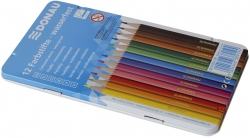 Farbstifte - 3 mm, 12 Farben, Metalletui
