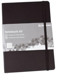 Notizbuch - A5, liniert, 192 Seiten, schwarz