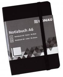 Notizbuch - A6, liniert, 192 Seiten, schwarz