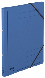 Ringbuch Colorspankarton - A4, 2-Ring, Gummizug, blau