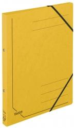 Ringbuch Colorspankarton - A4, 2-Ring, Gummizug, gelb