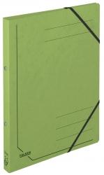 Ringbuch Colorspankarton - A4, 2-Ring, Gummizug, grün