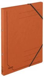 Ringbuch Colorspankarton - A4, 2-Ring, Gummizug, orange