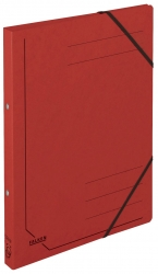 Ringbuch Colorspankarton - A4, 2-Ring, Gummizug, rot