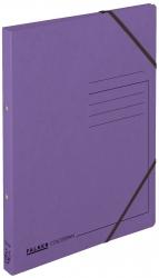 Ringbuch Colorspankarton - A4, 2-Ring, Gummizug, violett