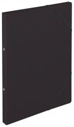 Ringbuch Colorspankarton - A4, 2-Ring, Gummizug, schwarz