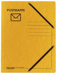 Jurismappe Postmappe - Aufdruck & Symbol, Colorspankarton 335 g/qm, gelb