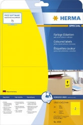 4496 Etiketten gelb 199,6x143,5 mm Papier matt 40 St. ablösbar