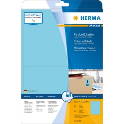 4498 Etiketten blau 199,6x143,5 mm Papier matt 40 St. ablösbar