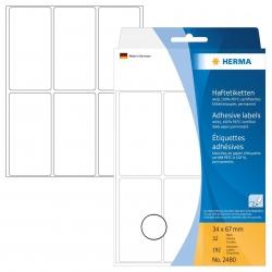 2480 Vielzwecketiketten - weiß, 34x67 mm, matt, 192 Stück