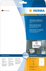 10021 Etiketten A4 weiß 210x297 mm Movables/ablösbar Papier matt 25 St.