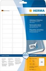 4346 Etiketten A4 weiß 45,7x21,2 mm Movables/ablösbar Papier matt 1200 St.