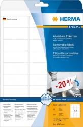 4347 Etiketten A4 weiß 63,5x29,6 mm Movables/ablösbar Papier matt 675 St.