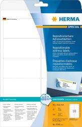 4349 Adressetiketten A4 weiß 96x50,8 mm repositionierbar Papier matt 250 St.