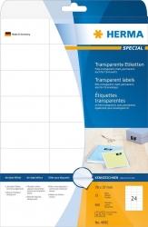 4685 Etiketten transparent matt A4 70x37 mm Folie 600 St.